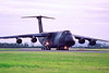 86-0014. Lockheed C-5B Galaxy. USAF. Glasgow. 1980`s.  Negative scan.